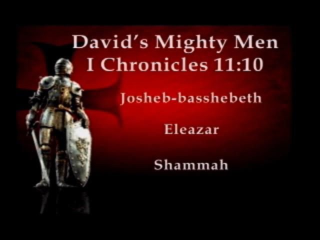 Leadership Lessons Davids Mighty Men